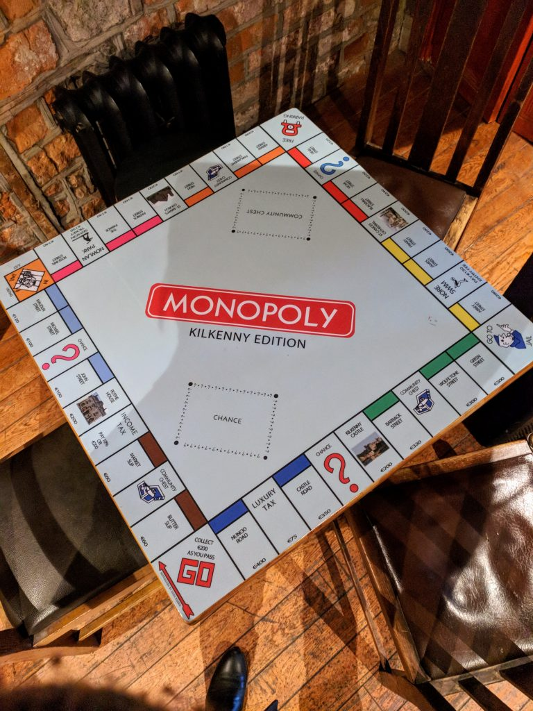 Monopoly (Kilkenny edition) table at Brewery Corner