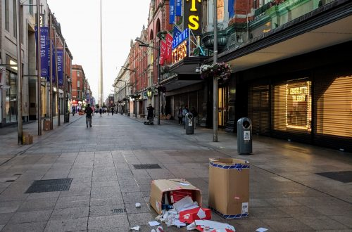 Litter on Henry Street, Dublin