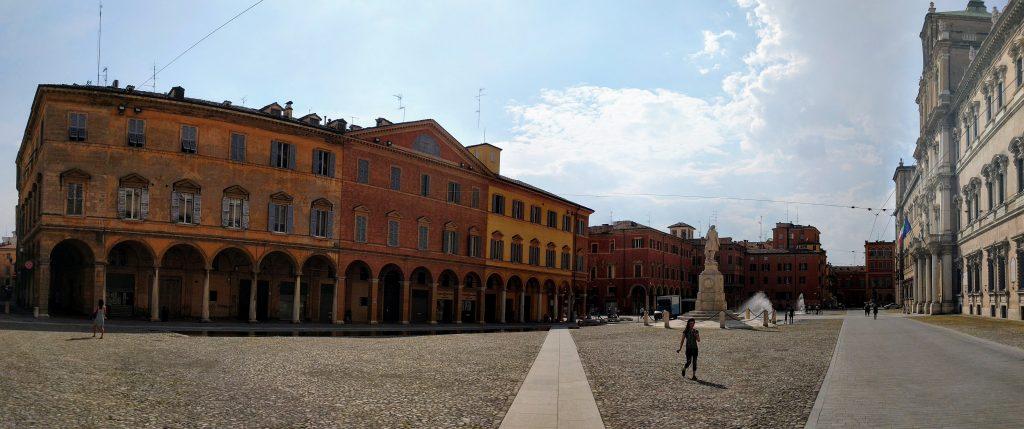 Piazza Roma in Modena, Italy
