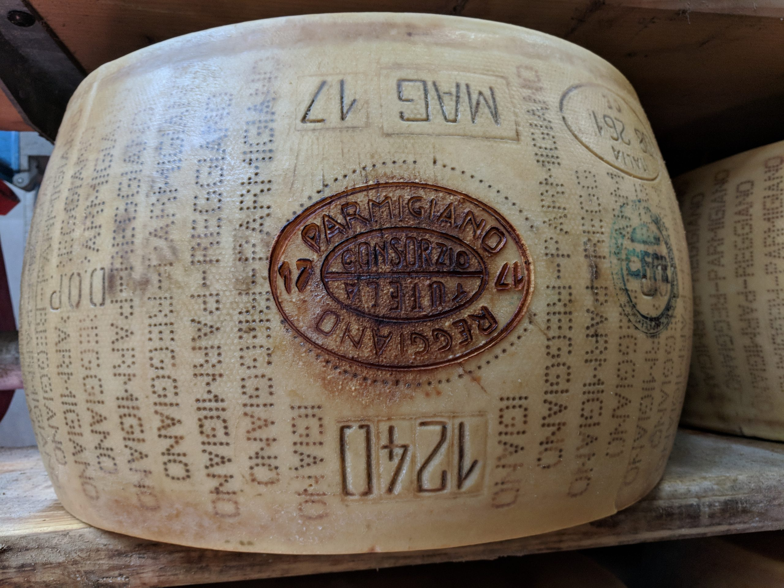 wheel of Parmigiano Reggiano