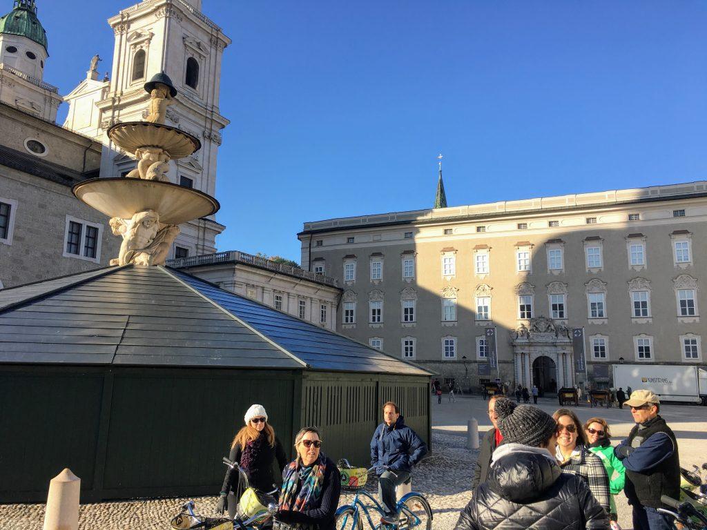 Residenzplatz and the fountain, Salzburg, Austria