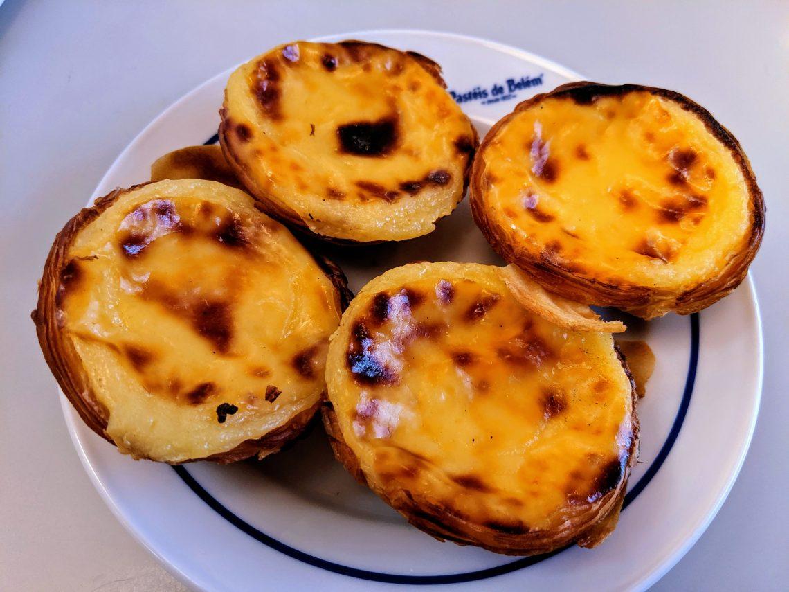 pastéis de nata from Pastéis de Belém in Belém, Portugal