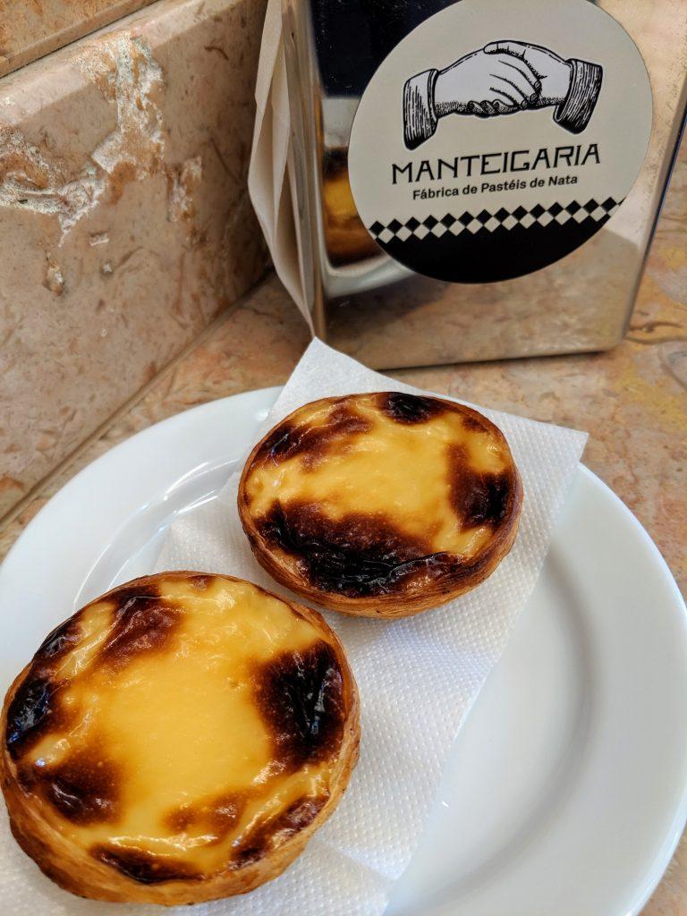 pastéis de nata from Manteigaria in Porto, Portugal