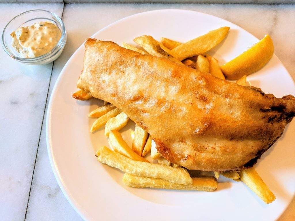 Fish and chips from The Fish Shop, Dublin, Ireland.