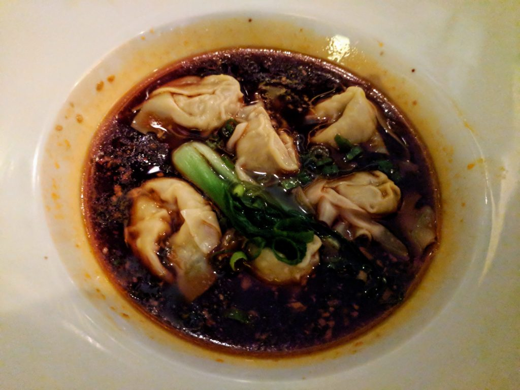 """""""Hon Yu Guozi"""": Poached chicken and pork dumplings in hot and spicy chili oil from China Sichuan, Dublin, Ireland"""